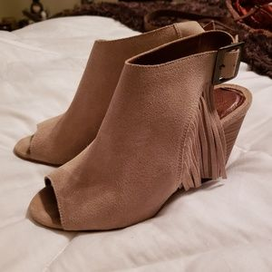 Anthropologie bootie heels
